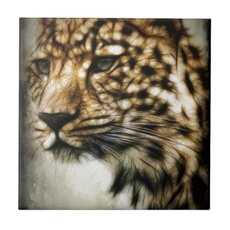 El gato salvaje del leopardo mancha safari de la n tejas  cerámicas