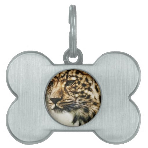 El gato salvaje del leopardo mancha safari de la n placas de mascota