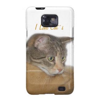 El gato Samsung encajona Galaxy S2 Funda
