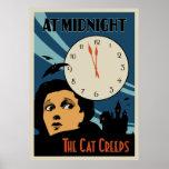 """""""El gato se arrastra"""" cartel de película del vinta Posters"""