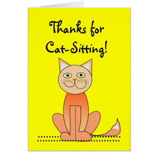 El Gato-Sentarse le agradece cardar Felicitaciones