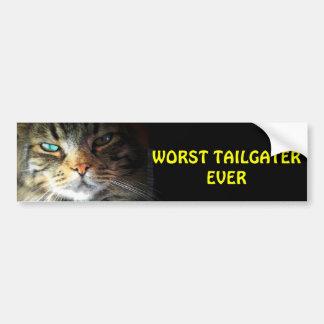 El gato siempre de parachoques peor de Tailgater Pegatina Para Auto