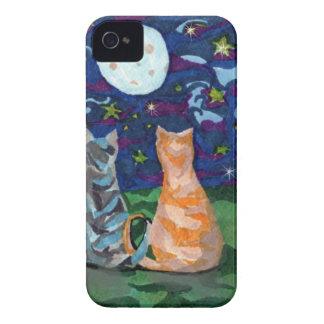 El gato soña las ilustraciones originales iPhone 4 Case-Mate protector