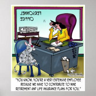 El gato tiene 9 planes del seguro de vida póster