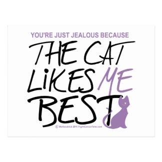 El gato tiene gusto de mí mejor postal