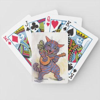El gato toca el banjo cartas de juego