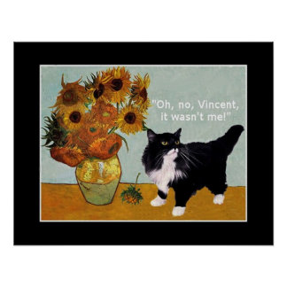 El gato travieso de Vincent van Gogh