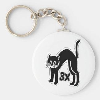 el gato u48 mide el tiempo de 3 llavero redondo tipo pin