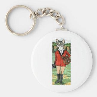 El gato va CAT de la CAZA de la caza de Fox Llaveros