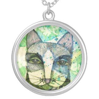 El gato verde pensativo - collar