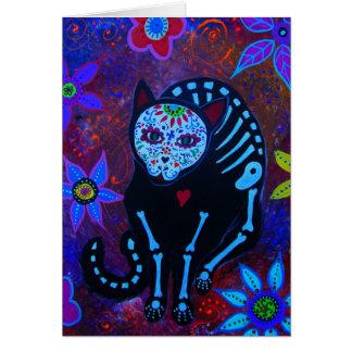 EL GATO VIII DIA DE LOS MUERTOS CAT CARD