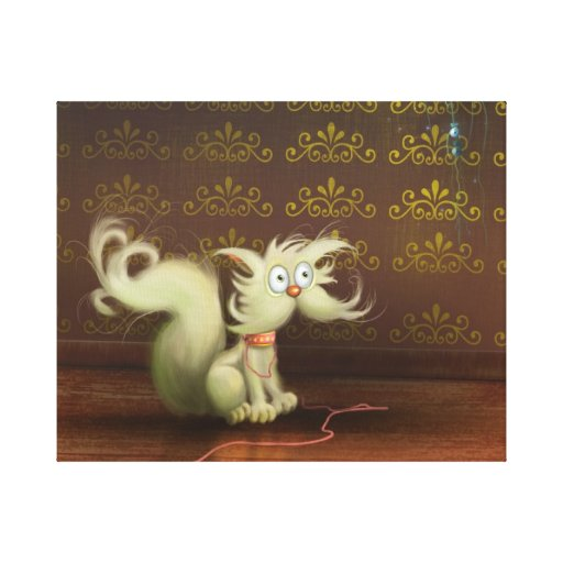 el gato y el ratón estiraron la impresión de la lo lona estirada galerías