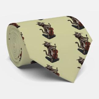 El gato y el violín corbata