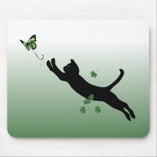 El gato y la mariposa tapetes de raton