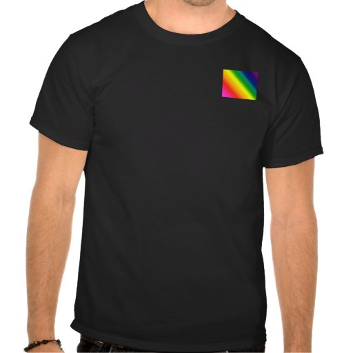 El gay, arco iris lesbiano, orgullo colorea todas camiseta