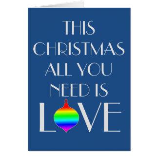 El gay clásico y elegante orientó navidad tarjeta de felicitación