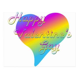 El gay de la tarjeta del día de San Valentín feliz Postal