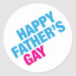 El gay del padre feliz etiqueta redonda