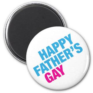 El gay del padre feliz imán redondo 5 cm
