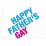 El gay del padre feliz postal