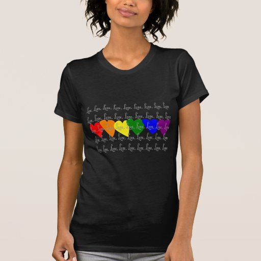 """El gay/el """"amor lesbiano"""" torció corazones del camisetas"""