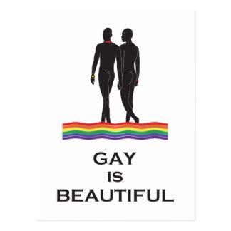 El gay es hermoso tarjeta postal