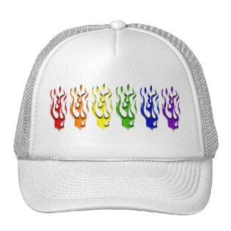 El gay flamea los gorras