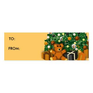 El gay lleva la etiqueta 1 del regalo tarjetas de visita