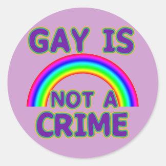 El gay no es camisetas de un crimen, suda, las pegatina redonda