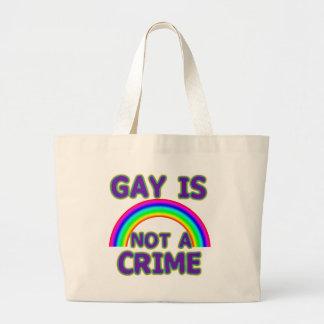 El gay no es camisetas de un crimen, suda, las sud bolsa de tela grande