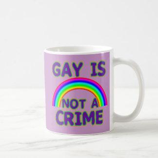 El gay no es camisetas de un crimen, suda, las taza clásica