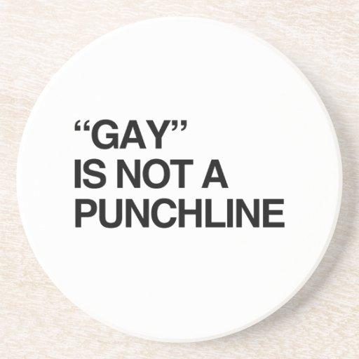 El GAY NO ES un PUNCHLINE.png Posavasos Diseño