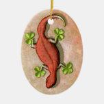 El Gecko de St Patrick Ornamentos De Navidad