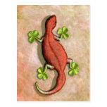 El Gecko de St Patrick Tarjeta Postal