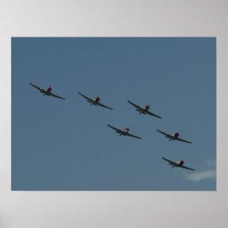 El GEICO Skytypers. Impresiones