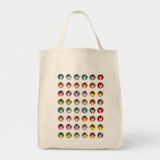 el geisha hace frente a todos bolsa tela para la compra