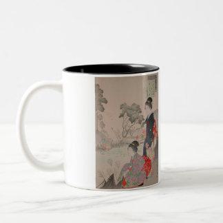 El geisha taza de dos tonos