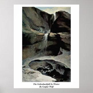 El Geltenbachfall en invierno por el lobo de Caspa Impresiones