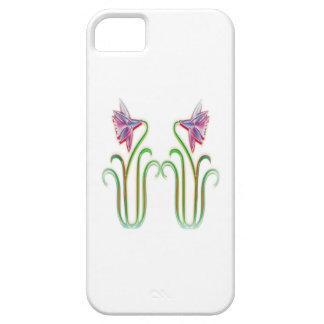 El gemelo lindo florece arte del ejemplo en 100 funda para iPhone 5 barely there