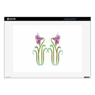 El gemelo lindo florece arte del ejemplo en 100 portátil 38,1cm skins