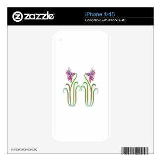 El gemelo lindo florece arte del ejemplo en 100 skin para el iPhone 4S