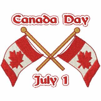 El gemelo señala Canadá por medio de una bandera Polo Bordado
