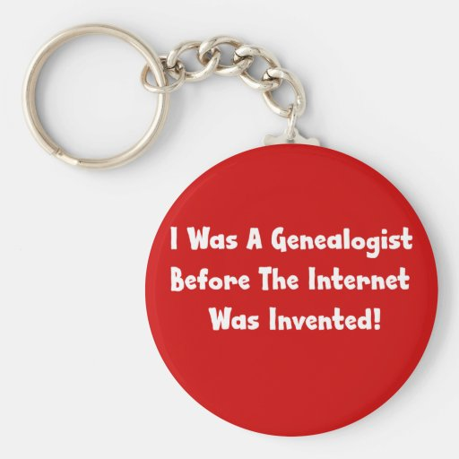 El Genealogist antes del Internet era inventa Llavero Personalizado