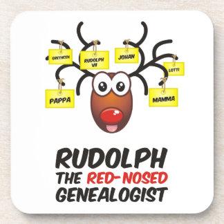El Genealogist con la nariz roja Posavasos De Bebida