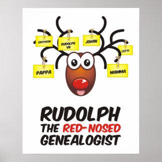 El Genealogist con la nariz roja Póster