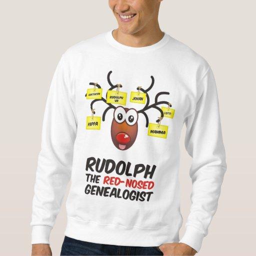 El Genealogist con la nariz roja Sudadera Con Capucha