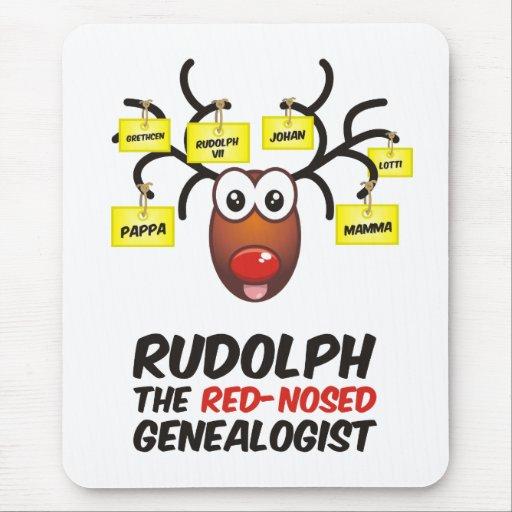 El Genealogist con la nariz roja Tapetes De Ratón