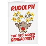 El Genealogist con la nariz roja Tarjeta De Felicitación