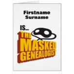 El Genealogist enmascarado - personalizado Felicitaciones