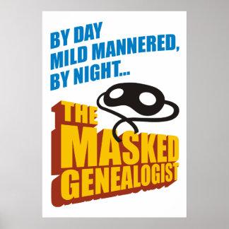 El Genealogist enmascarado Póster